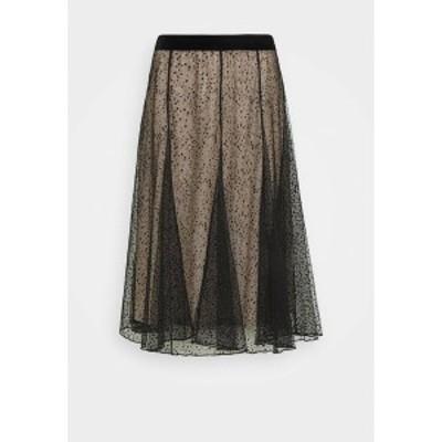 クリーム レディース スカート ボトムス BODIL - A-line skirt - pitch black pitch black