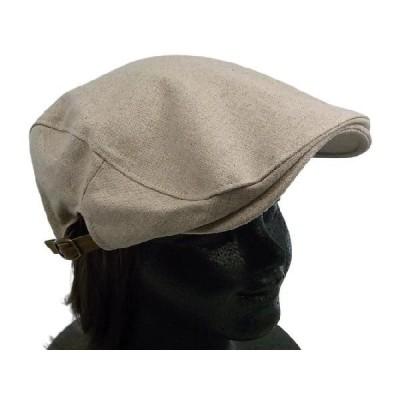 リネンシンプルハンチング ベージュ 麻 帽子