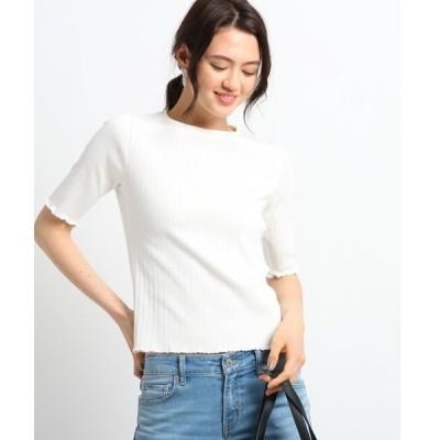 tシャツ Tシャツ 【Sサイズ別注/マシンウォッシュ】5分袖リブカットソー