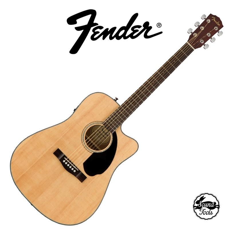 Fender CD-60SCE D桶面單缺角電木吉他   原木色【桑兔】