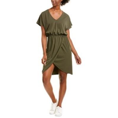 レオタ レディース ワンピース トップス Leota Angelina A-Line Dress crepe knit peat moss green