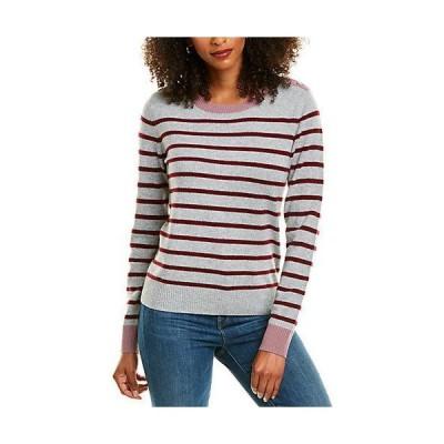 レディース ファッション  Revive Cashmere Button Shoulder Cashmere Sweater