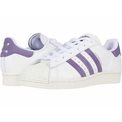 アディダス レディース スニーカー シューズ Superstar White/Tech Purple/Off-White