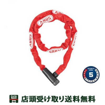 アブス 自転車 ワイヤー錠 チェーンロック ABUS 5805K/110 レッド 85-3603097006