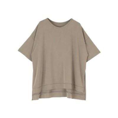バックロゴリラックスカットソーTシャツ (チャコール)