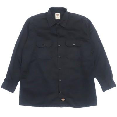 ディッキーズ ワークシャツ ブラック サイズ表記:L