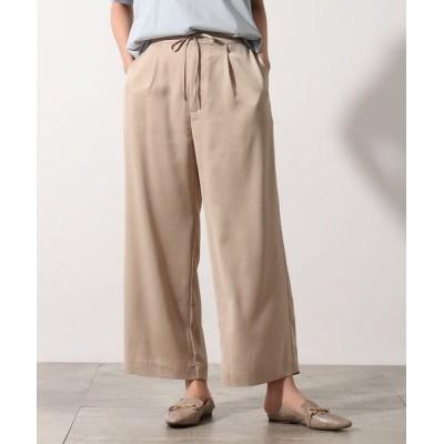 OZOC / 【洗える】サテンセミワイドパンツ WOMEN パンツ > パンツ