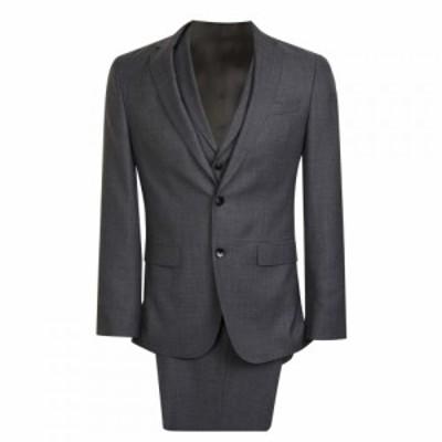 ヒューゴ ボス Boss メンズ スーツ・ジャケット アウター Sgle Breasted Woven Texture Suit Jacket Grey