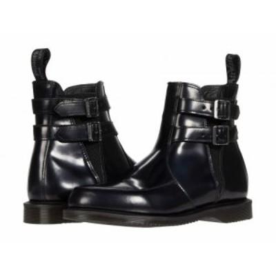 Dr. Martens ドクターマーチン レディース 女性用 シューズ 靴 ブーツ アンクル ショートブーツ Flora Buckle Chelsea Black【送料無料】
