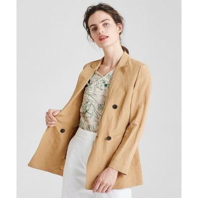 TOMORROWLAND / トゥモローランド コンパクトリネン ダブルブレストジャケット