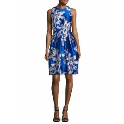 カーメンマークバルボ レディース ワンピース Leaf Print Jacquard Cocktail Dress