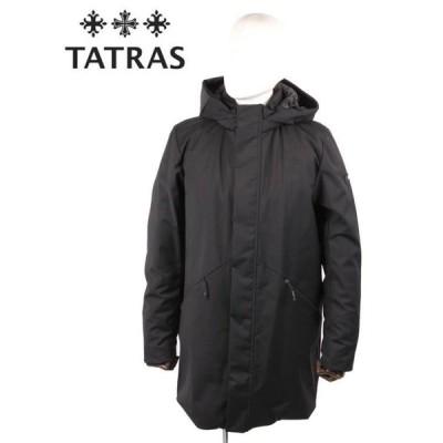 TATRAS タトラス TAGO ミドル丈ダウンコート ストレッチ フード取り外し可能 インナーリブ袖 MTK20A4189 BLACK ブラック 国内正規品