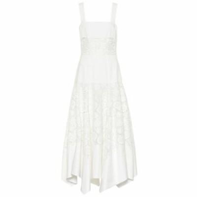 ロージーアスリン Rosie Assoulin レディース ワンピース ワンピース・ドレス Broderie anglaise cotton maxi dress White