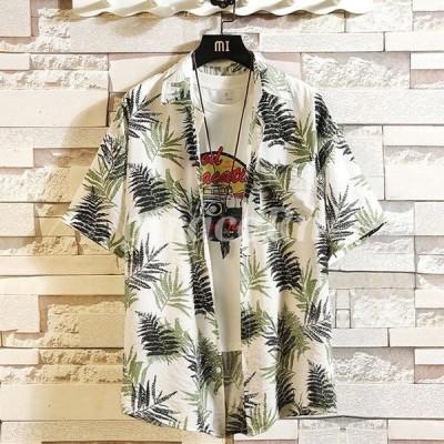 ハワイアン メンズ ビーチ 半袖シャツ アロハシャツ メンズ 大きいサイズ カジュアル シャツ 夏春 祭り トップス アロハシャツ メンズファッション