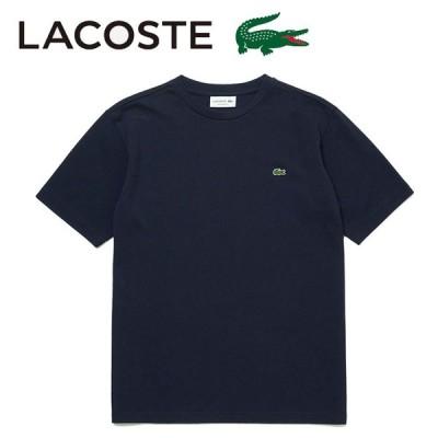 ラコステ Tシャツ カットソー ワンポイント メンズ 半袖 ネイビー トップス 鹿の子 紺色 LACOSTE TH635EN
