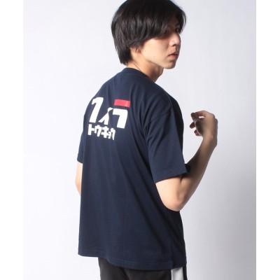 【フィラ】 グラフィックTシャツ メンズ ネイビー L FILA