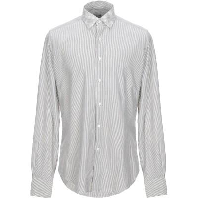 グランシャツ GLANSHIRT シャツ グレー 39 コットン 97% / カシミヤ 3% シャツ