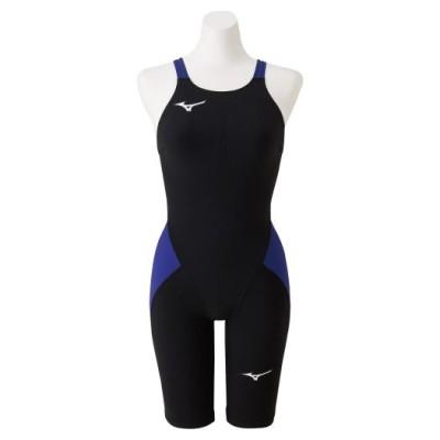 ミズノ 競泳用MX・SONIC α ハーフスーツ[ジュニア] 92ブラック×ブルー 140 スイム 競泳水着 N2MG0411