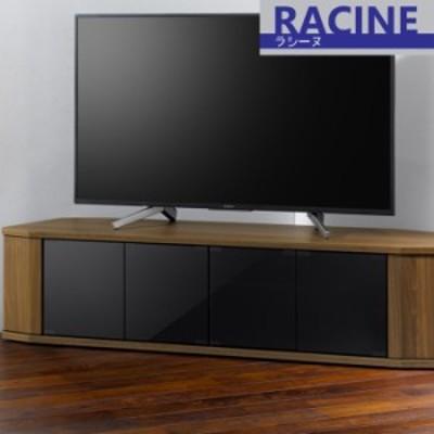 コーナーテレビ台 テレビ台 幅1500 ウォールナット 木製 キャスター付き AMK-0694