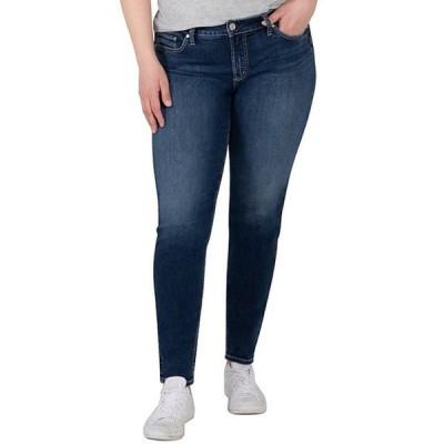 シルバー ジーンズ レディース デニムパンツ ボトムス Plus Size Mid Rise Elyse Skinny Jeans
