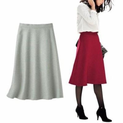 レディースファッション 【バーゲン】ウールライクフレアスカート(選べる2レングス・手洗い) M(総丈60) L(総丈60) 3795-495651