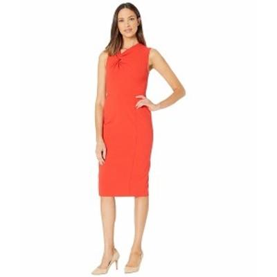 ドナモーガン レディース ワンピース トップス Sleeveless Crepe Sheath Dress Scarlet Red