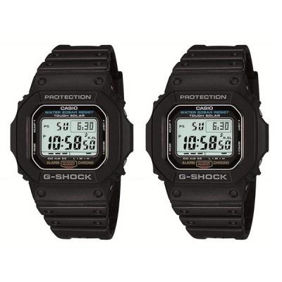 カシオ ペアウォッチ Gショック G-SHOCK ジーショック 電池交換不要 ソーラー  ブラック 黒 G-5600E-1G-5600E-1 腕時計