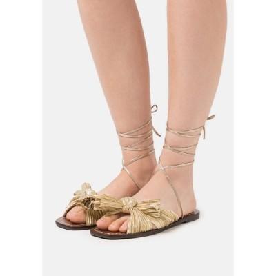 ロフラー ランダル サンダル レディース シューズ PEONY - Sandals - gold lame