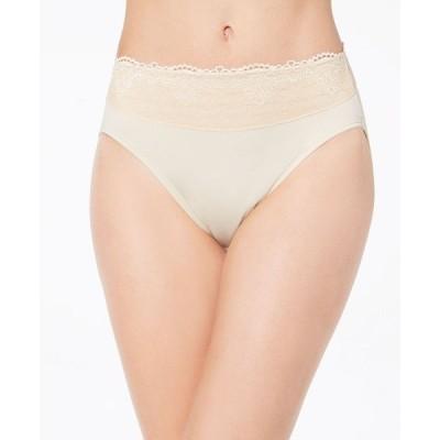 バリ Bali レディース ショーツのみ インナー・下着 Passion For Comfort Hi Cut Lace-Waist Underwear DFPC62 Soft Taupe Lace