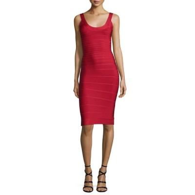 エルベレジェ レディース ワンピース トップス Scoop-Neck Bandage Dress