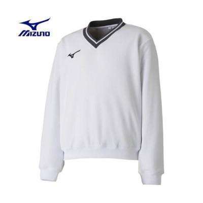 ミズノ MIZUNO スウェットシャツ(中厚)[ジュニア](01)ホワイト 62JC810101