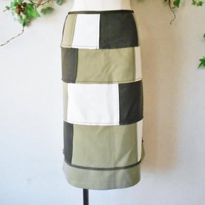 スタイル コレクション STYLE COLLECTION パッチワーク 風 切替 多数 お洒落 な スカート