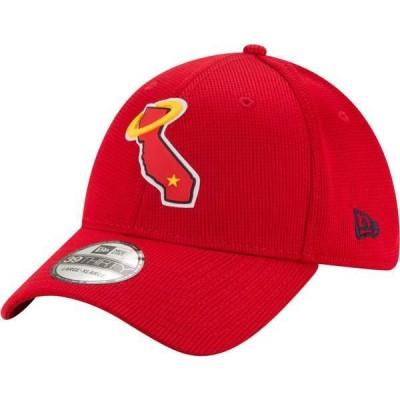 ニューエラ メンズ 帽子 アクセサリー New Era Men's Los Angeles Angels Red 39Thirty Clubhouse Stretch Fit Hat