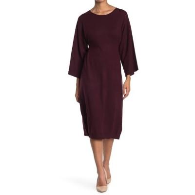 マックスタジオ レディース ワンピース トップス Long Sleeve Sweater Dress WINE