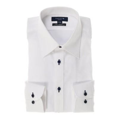 形態安定スリムフィットレギュラーカラー長袖ビジネスドレスシャツ