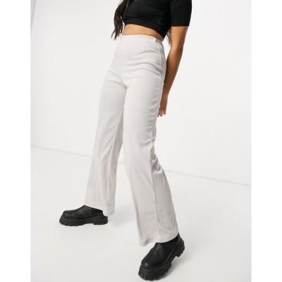 シックスジュン レディース カジュアルパンツ ボトムス Sixth June high waisted relaxed pants set in stretch sparkle Beige