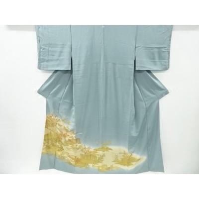 宗sou 金彩橋に松竹梅・風景模様一つ紋色留袖【リサイクル】【着】