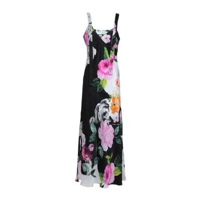 OFF-WHITE™ ロングワンピース&ドレス ブラック 38 シルク 100% ロングワンピース&ドレス