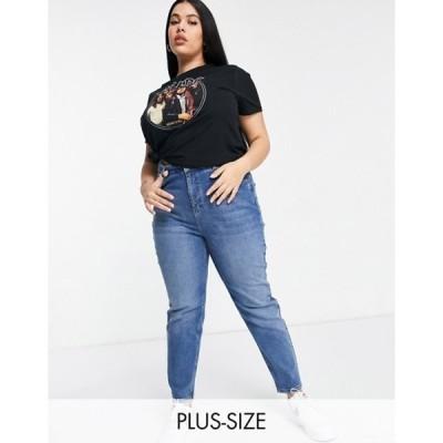 シンプリー ビー レディース デニムパンツ ボトムス Simply Be mom jeans in vintage blue
