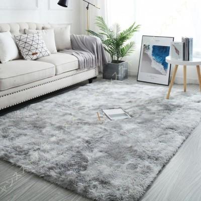 カーペット ラグ 夏 シャギーラグ ラグマット 洗える 絨毯 じゅうたん 一年中使える 抗菌 滑り止め付き グラデーション ふわふわ 床暖房対応 冷房対策
