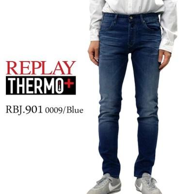 リプレイ メンズ ボトムス REPLAY MA90157B881 RBJ.901 THERMO+ テーパード コンフォート フィット デニム ジーンズ