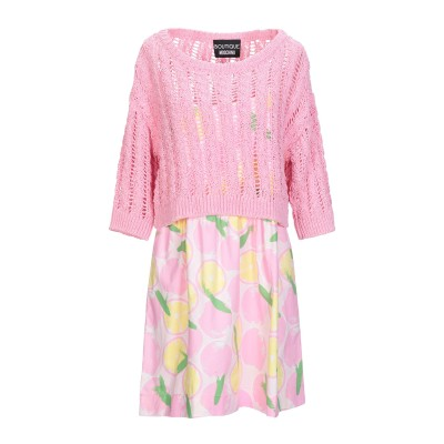 BOUTIQUE MOSCHINO ミニワンピース&ドレス ピンク 42 コットン 100% / ナイロン ミニワンピース&ドレス
