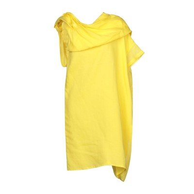COLLECTION PRIVĒE? 7分丈ワンピース・ドレス イエロー 40 ラミー 100% 7分丈ワンピース・ドレス