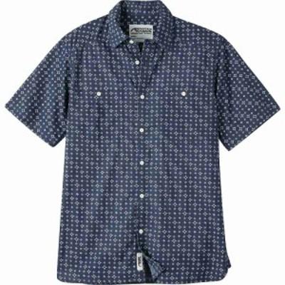 マウンテンカーキス Mountain Khakis メンズ 半袖シャツ トップス Ace Indigo SS Shirt Indigo Print