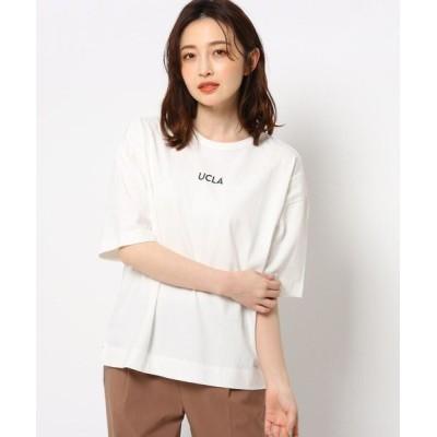 THE SHOP TK/ザ ショップ ティーケー 【洗濯機可】【UCLA】カレッジTシャツ オフホワイト(003) 13(L)