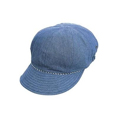 コジット 装飾雑貨(ファッション小物) ブルー 頭囲56~58cm対応 UV99%カット 髪型ふんわり デニム キャスケット