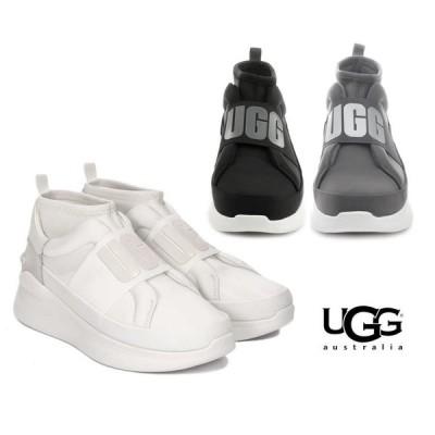 2020春夏入荷/UGG(アグ)スニーカー/Neutra Trainer Sneaker/ニュートラ 厚底ソール スリッポンスニーカー レディース/ブラック、チャコールグレー、ホワイト