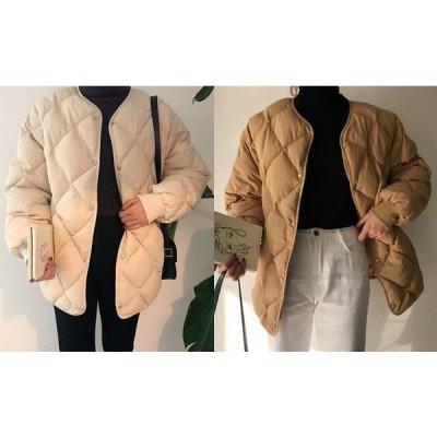 全2色 コート 厚手 切り替え 体型カバー 着痩せ 無地 シンプル