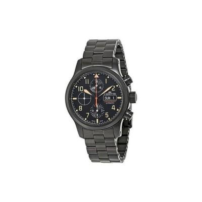 フォルティス 腕時計 Fortis Aeromaster スチール クロノグラフ ブラック PVD メンズ 腕時計 656.18.18 M