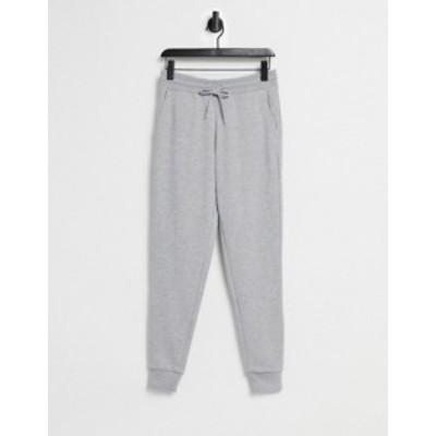 エイソス メンズ カジュアルパンツ ボトムス ASOS DESIGN skinny sweatpants in gray marl Gray heather